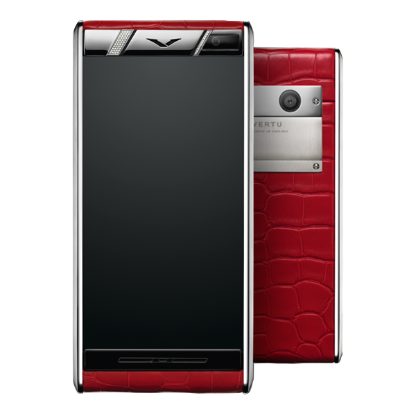 Vertu Aster Diamonds Red Alligator