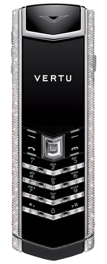 Vertu Signature S Design Stainless Steel Diamonds Black