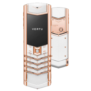 Vertu Signature S Design Pure White Red Gold Diamonds
